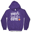Golly Girls: Dribble Shoot Look Cute Basketball Purple Hoodie (Youth & Adult Sizes)