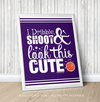 "Golly Girls: Dribble Shoot Look Cute Basketball Purple 16"" x 20"" Poster"