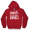 Golly Girls: Dribble Shoot Look Cute Basketball Red Hoodie (Youth & Adult Sizes)