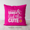 Dribble Shoot Look Cute Basketball Pink Throw Pillow