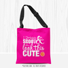 Dribble Shoot Look Cute Basketball Pink Shoulder Tote Bag