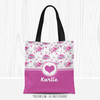 Golly Girls: Floral and Lace Personalized Every Girl Tote Bag
