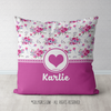 Golly Girls: Floral and Lace Personalized Every Girl Throw Pillow