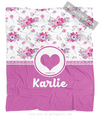 Golly Girls: Floral and Lace Personalized Every Girl Fleece Throw Blanket
