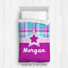 Golly Girls: Bubblegum Plaid Teen/Pre-teen Girls Personalized Comforter Or Set