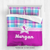 Golly Girls: Bubblegum Plaid Figure Skating Personalized Comforter Or Set