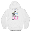Golly Girls: Flip Like A Girl White Hoodie (Youth & Adult Sizes)