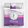 Golly Girls: Fun-Filled Hearts Personalized Basketball Comforter Or Set