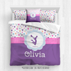 Golly Girls: Fun-Filled Hearts Personalized Cheer Comforter Or Set