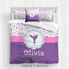 Golly Girls: Fun-Filled Hearts Personalized Martial Arts Comforter Or Set