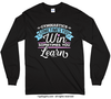 Gymnastics Win or Learn Long Sleeve T-Shirt (Youth-Adult)