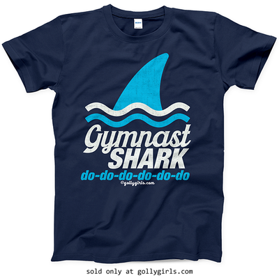 4fbc9e4a Gymnast Shark T-Shirt (Youth-Adult) - Golly Girls