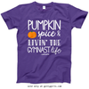 Golly Girls: Pumpkin Spice Gymnastics Purple T-Shirt (Youth & Adult Sizes)