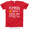 Golly Girls: Pumpkin Spice Gymnastics Red T-Shirt (Youth & Adult Sizes)