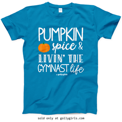 Golly Girls: Pumpkin Spice Gymnastics Sapphire T-Shirt (Youth & Adult Sizes)