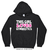 Golly Girls: This Girl Loves Gymnastics Black Hoodie (Youth & Adult Sizes)