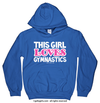Golly Girls: This Girl Loves Gymnastics Royal Blue Hoodie (Youth & Adult Sizes)