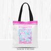 Golly Girls: Pink Typography Personalized Gymnastics Tote Bag