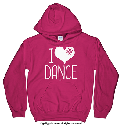 Golly Girls: I Hashtag Heart Dance Heliconia Hoodie (Youth & Adult Sizes)