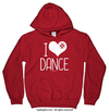 Golly Girls: I Hashtag Heart Dance Red Hoodie (Youth & Adult Sizes)