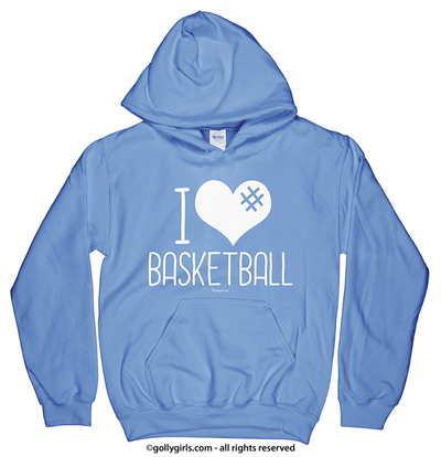 Golly Girls: I Hashtag Heart Basketball Hoodie (Youth-Adult)