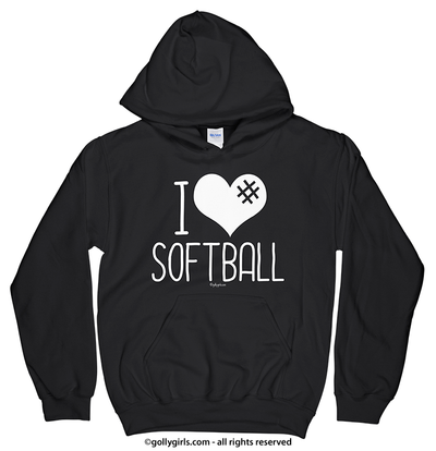Golly Girls: I Hashtag Heart Softball Hoodie (Youth-Adult)