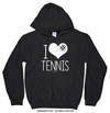 Golly Girls: I Hashtag Heart Tennis Black Hoodie (Youth & Adult Sizes)