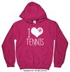 Golly Girls: I Hashtag Heart Tennis Heliconia Hoodie (Youth & Adult Sizes)