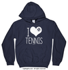 Golly Girls: I Hashtag Heart Tennis Navy Hoodie (Youth & Adult Sizes)