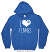 Golly Girls: I Hashtag Heart Tennis Royal Blue Hoodie (Youth & Adult Sizes)