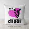 My Heart Belongs to Cheer Throw Pillow - Golly Girls
