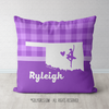 Personalized Hometown Charm Purple Dance Throw Pillow