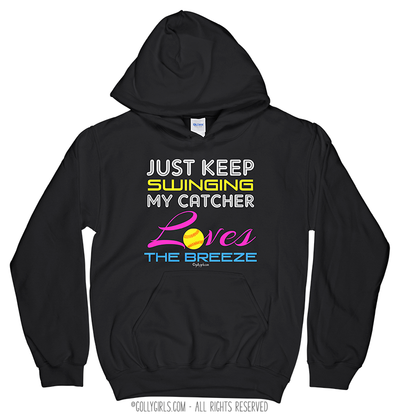 Golly Girls: Just Keep Swinging Softball Hoodie (Youth-Adult)