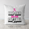 Keep Calm and Play Softball Throw Pillow - Golly Girls