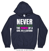 Golly Girls: Never Underestimate a Girl in a Leotard Navy Hoodie (Youth-Adult)