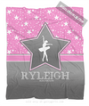 Golly Girls: Personalized Dance Among The Stars Fleece Throw Blanket