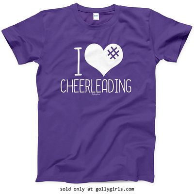 Golly Girls: I Hashtag Heart Cheerleading T-Shirt (Youth-Adult)