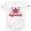 Golly Girls: Patriotic Stars Gymnast T-Shirt (Youth & Adult Sizes)