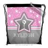 Golly Girls: Personalized Gymnastics Among The Stars Drawstring Backpack