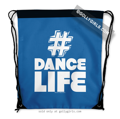 Golly Girls: Hashtag Dance Life (Blue) Drawstring Backpack