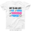 Golly Girls: Volleyball To-Do T-Shirt (Youth-Adult)