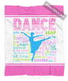 Golly Girls: Pastel Dance Typography Fleece Throw Blanket