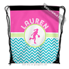 Golly Girls: Personalized Multi-Color Chevron Basketball Drawstring Backpack