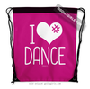 Golly Girls: I Hashtag Heart Dance - Pink Drawstring Backpack