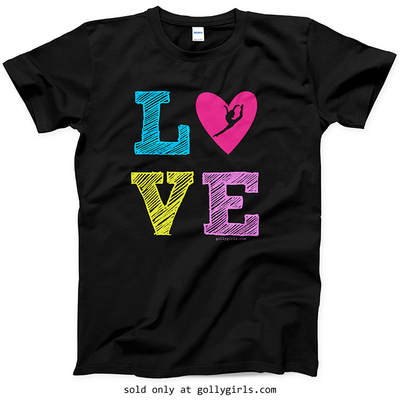 Golly Girls: LOVE Gymnastics T-Shirt (Youth & Adult Sizes)
