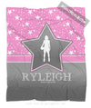 Golly Girls: Personalized Basketball Among The Stars Fleece Throw Blanket