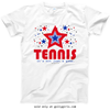 Golly Girls: Patriotic Stars Tennis T-Shirt (Youth & Adult Sizes)