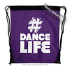 Golly Girls: Hashtag Dance Life (Purple) Drawstring Backpack