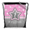 Golly Girls: Personalized Figure Skating Among The Stars Drawstring Backpack