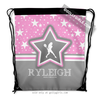 Golly Girls: Personalized Tennis Among The Stars Drawstring Backpack